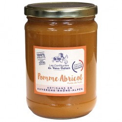 Purée de fruit / Compote Pomme Abricot artisanales - Vente en ligne - Confitures du Vieux Chérier - Rhône Alpes