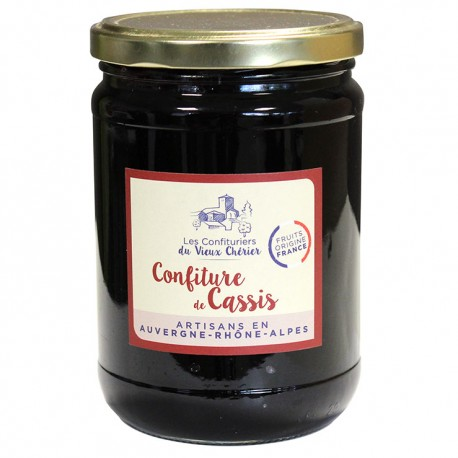 Confiture de Cassis artisanale - Vente en ligne confiture - Confitures du Vieux Chérier - Loire - Rhône Alpes